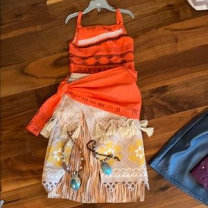 Disney store Moana costume and necklaces